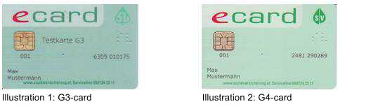 e-card G3 and G4