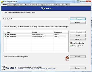 Software F 252 R Pdf Signatur Mit Der B 252 Rgerkarte